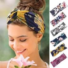 Mulheres Headbands Boêmio Impressão Cruz Nó Hairband Banda Para El Cabello Pará Bande De Cheveux Pour Femmes Mujeres