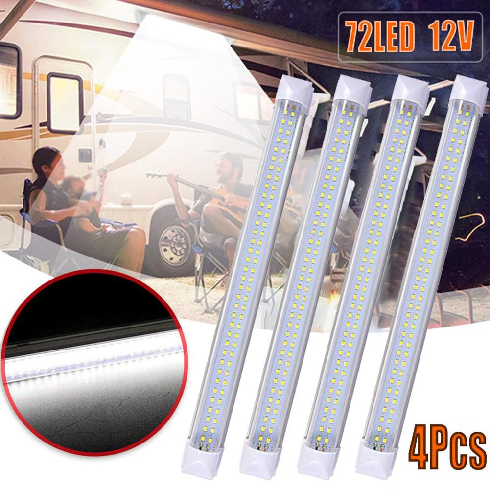 72 led 12/24/85 v carro auto interior luzes de tira barra leitura lâmpadas para van caminhão caminhão barco rvs caminhões trole ao ar livre iluminação