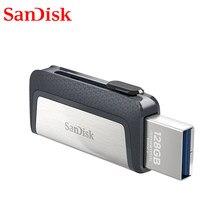 Sandisk – clé USB 3.1 double OTG SDDDC2, support à mémoire de 16GB 32GB 64GB 256GB 128GB, lecteur Flash haute vitesse 130 mo/s, Type C
