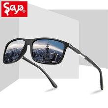 SAYLAYO, новинка, мужские солнцезащитные очки, поляризационные, UV400, защита, Ретро стиль, квадратные, солнцезащитные очки, для вождения, для путешествий, Zonnebril Heren