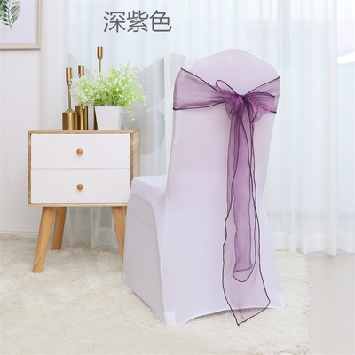Organza Chair Sashes Romantic  Sashes Band Ribbon For Banquet Hotel Wedding Party Housse De Chaise Mariage