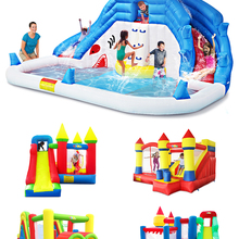 Water-Slide-Pool Bounce-House Inflatable Christmas-Present Kids YARD for Birthday-Gift