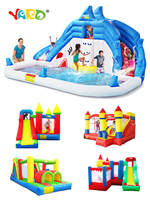 YARD Inflatable Bounce House Inflatable Water Slide Pool Bouncy Castle For Kids Christmas Present Birthday Gift