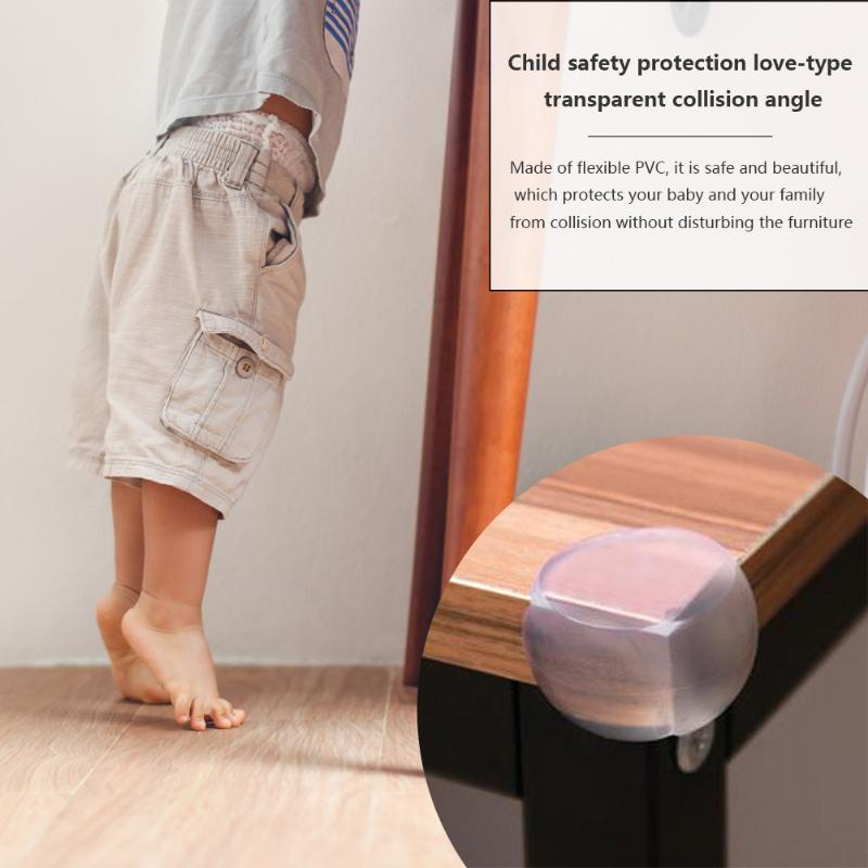 4pcs Corner Protector Curve Design Conforming To Ergonomics Anti Collision Angle Guard Edge Cover Baby Walking Safety
