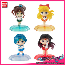 PrettyAngel estatua Original de Bandai Twinkle, Sailor Moon, Mercury, Jupiter, Venus, Gashapon, Mini figuras de juguete completas