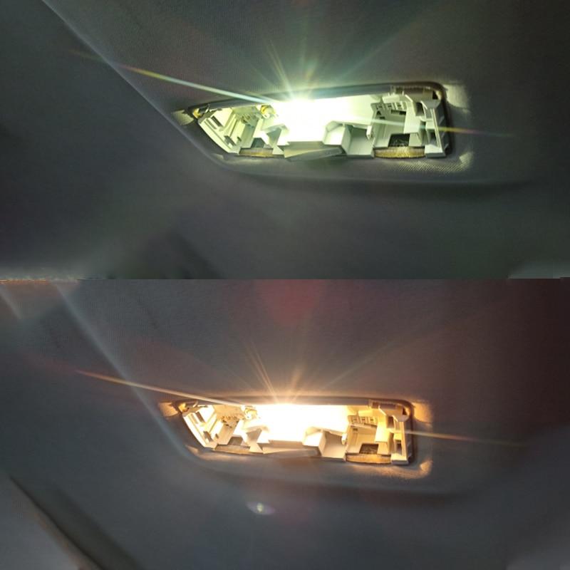 2Pcs/10Pcs W5W 194 T10 Glass Housing Cob Car Led Light Bulb 6000K White Green Blue Red Wedge License Plate Lamp Dome Light White 5