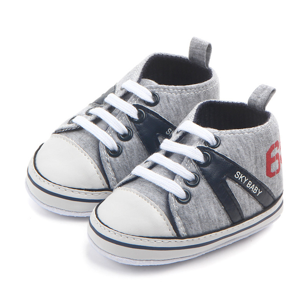 Infant Newborn Baby Boy Girl Soft Crib Shoes Leather Sneakers Anti-Slip Trainers
