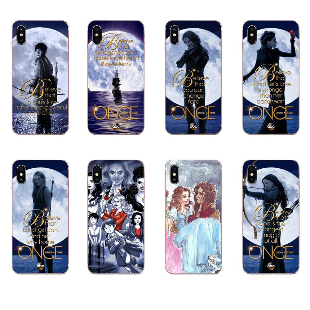 Soft <font><b>Case</b></font> Covers Once Upon A Time Tv Show For Apple <font><b>iPhone</b></font> 4 4S 5 5C <font><b>5S</b></font> SE 6 6S 7 8 11 Plus Pro X XS Max XR image