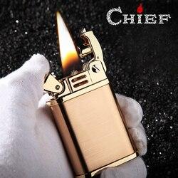 Chief wysokiej klasy lżejsze benzyna nafta Flint benzyna rocznika zapalniczki oleju wielokrotnego napełniania Retro mężczyzn gadżety Bar zapalniczki w Akcesoria do papierosów od Dom i ogród na