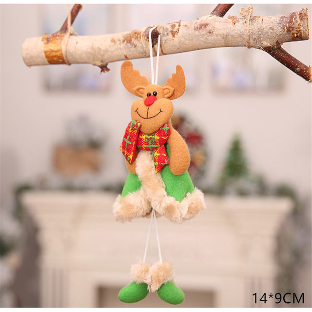 New Year 2020 Cute Santa Claus/Snowman/Angel Christmas Dolls Noel Christmas Tree Decoration for Home Xmas Navidad 2019 Kids Gift 52