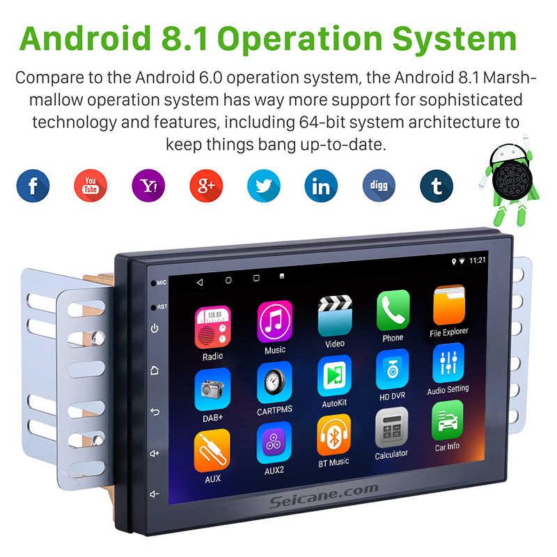 Seicane ユニバーサル車 2Din GPS Android8.1 HD 8 コア GPS ナビステレオホンダ起亜日産スズキトヨタ VW 現代サポート RDS 3 グラム