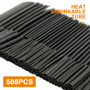 508 шт./компл. термоусадочные трубки жильный Обёрточная бумага комплект электрическое соединение кабеля черный полиолефина провода кабельн...