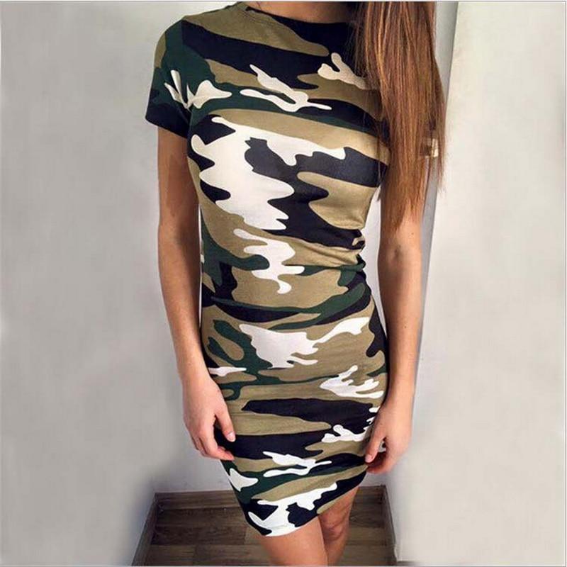 Hc6d865b8c643461086d83495411c4ab5i Festy Kary New Arrival 2018 Women Dress O Neck Sleeveless Cartoon Print Camouflage Color Elegant Sexy Ladies Dresses