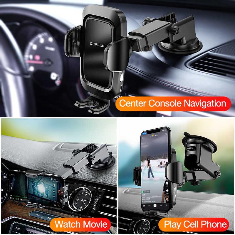 Cafele Auto Lock Mobil Pemegang untuk Ponsel Di Mobil Udara Ventilasi Klip Penahan Gravitasi Ponsel Pemegang Stand untuk iPhone 11 huawei Universal Stand