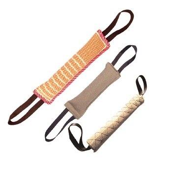1 Uds Durable correa para morder para adiestramiento de perros almohada manga con 2 cuerda para la formación de pastor alemán perro mascota de juguete TB
