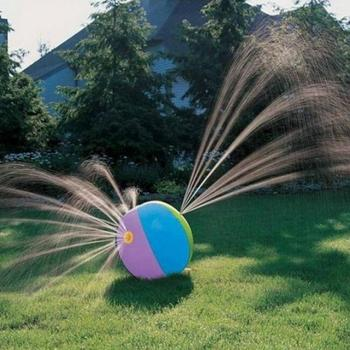 75CM Inflatable Spray Water Ball for Children's Summer Outdoor Swimming Beach Pool Lawn Toys Playing ball inflatable beach ball water balloons rainbow color balls summer outdoor beach swimming toys beach ball baby toys for kids