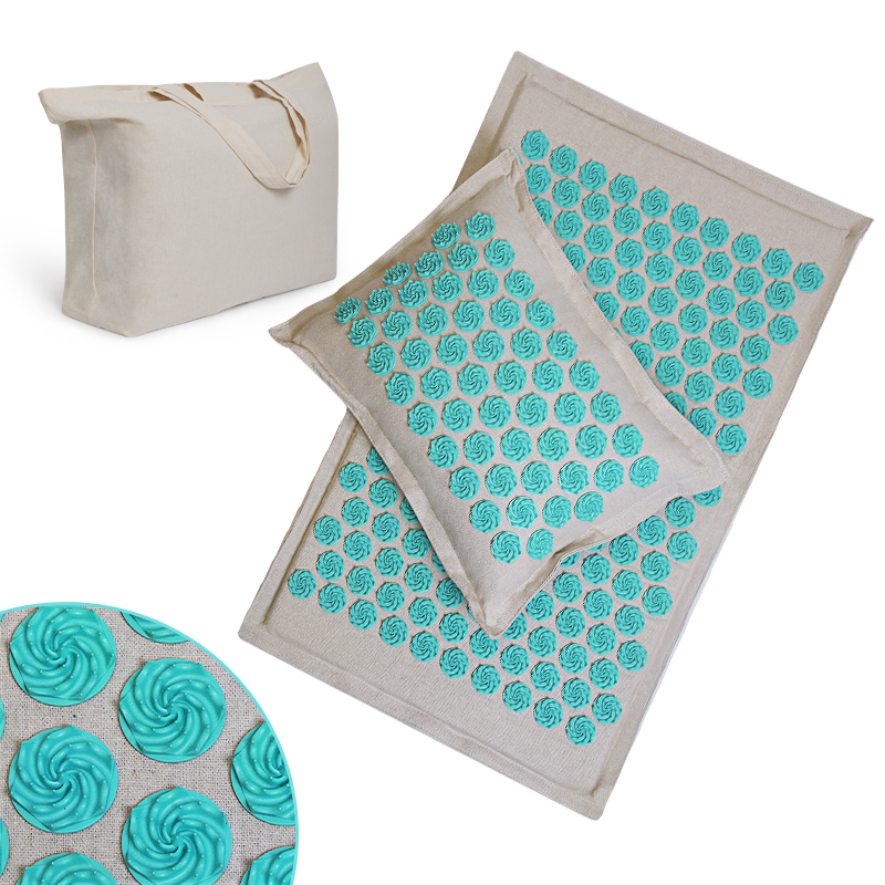 Pillow-Set Massage-Mat Back-Neck Muscles-Relieve Pain Sciatic Relax And