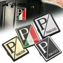 Nova motocicleta frente carenagem placa emblema tablet quadrado decalque logotipo para piaggio vespa gts 250 300 sprint primavera 150 lx150 s150