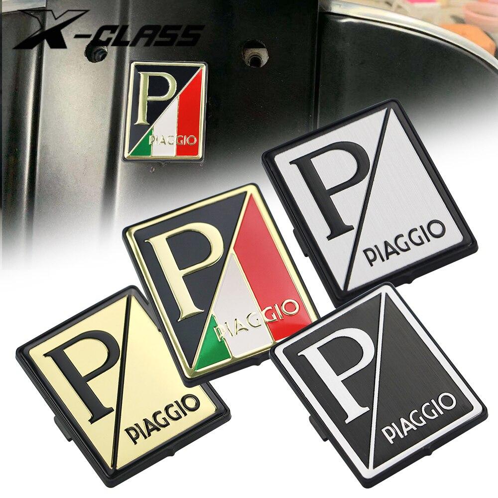 Placa de carenado frontal para motocicleta Placa de carenado cuadrado con Logo para Piaggio Vespa GTS 250 300 Sprint Primavera 150 LX150 S150