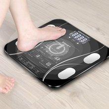 Английская шкала для взвешивания жира, электронные весы для взвешивания веса, анализ состава тела, весы для здоровья
