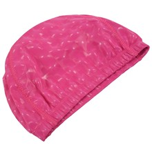 Unisex Children Kids Breathable Swimming Hat Waterproof Hair Care Ear Protection Swim Cap Polyester rose red(China)