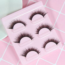 3 Pairs Stereoscopic False Eyelashes Long Lasting Natural Slender Curling Dense Extension