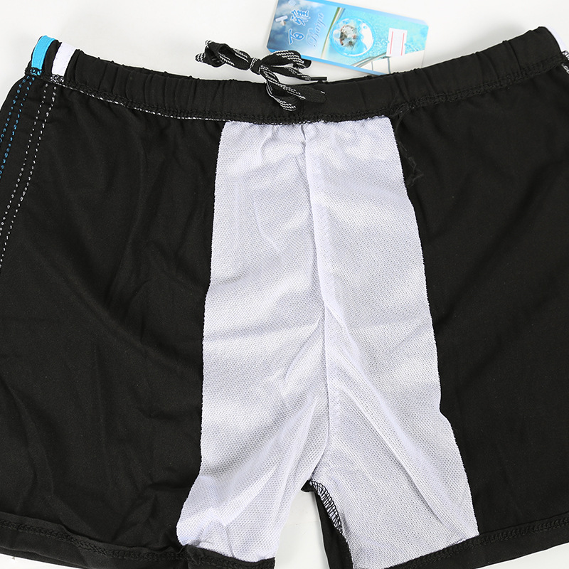 MEN'S Solid Color Men's Slim Fit Beach Swimming Trunks Fashion Boxer Dacron Adult Beach Men Swimwear
