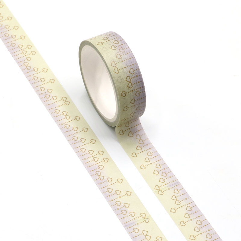 NEW Dotted Line And Hearts Washi Tape Planner Scrapbooking Cute Cinta Adhesiva Decorativa Masking Tape Japanese Stationery