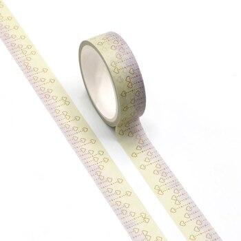 Nueva línea de puntos y corazones Washi Tape Planner Scrapbooking Linda Cinta Adhesiva Decorativa Tape Cinta Adhesiva japonesa papelería
