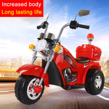 Childrens Electric Motorcycle Child Tricycle Can Take Baby Toy Car Ride on motorbike with Music and Light