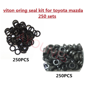 250sets/500pcs Fuel Injector Fkm Rubber Oring Seal Kits for Toyota Mitsubishi  Mazda Suzuki Cars Replacement (AY-OS250)