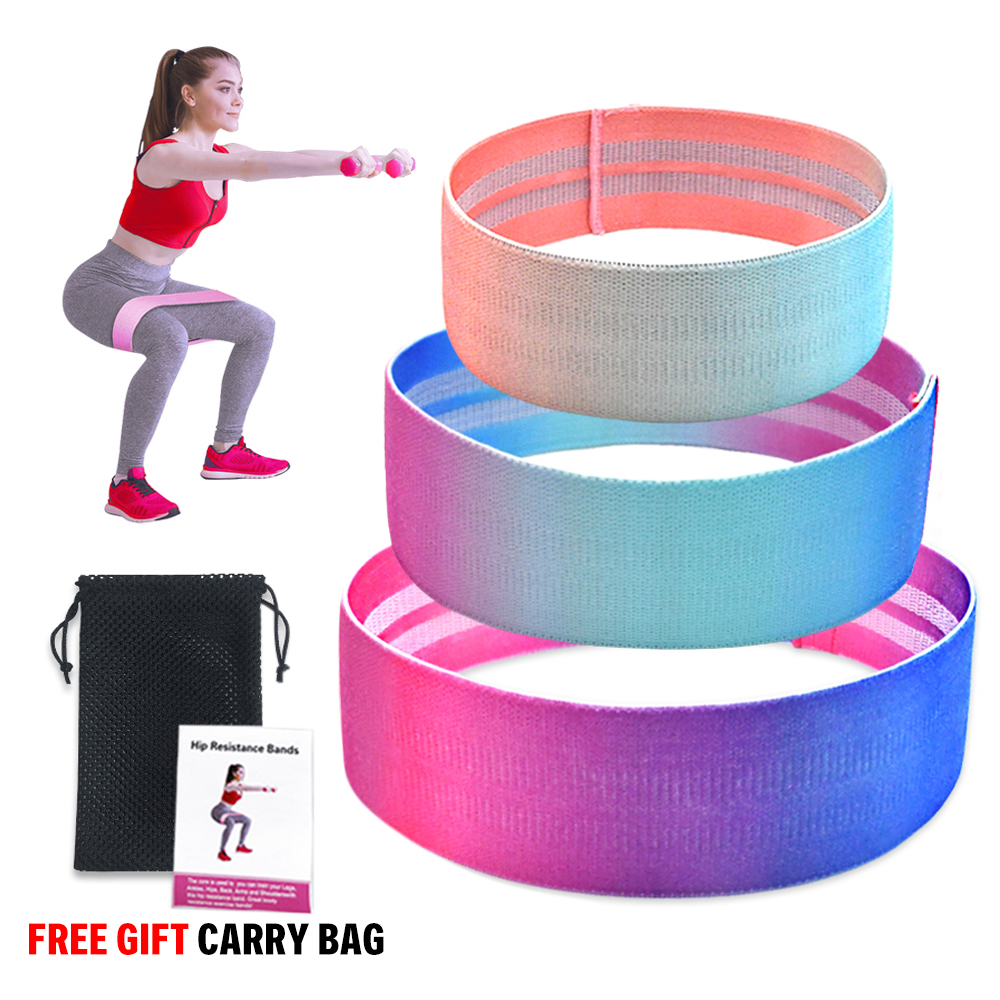 Elastic Booty Band Unisex Booty Band Hip Circle Loop Resistance Band Workout Exercise For Yoga Legs Thigh Glute Bands Non-slip