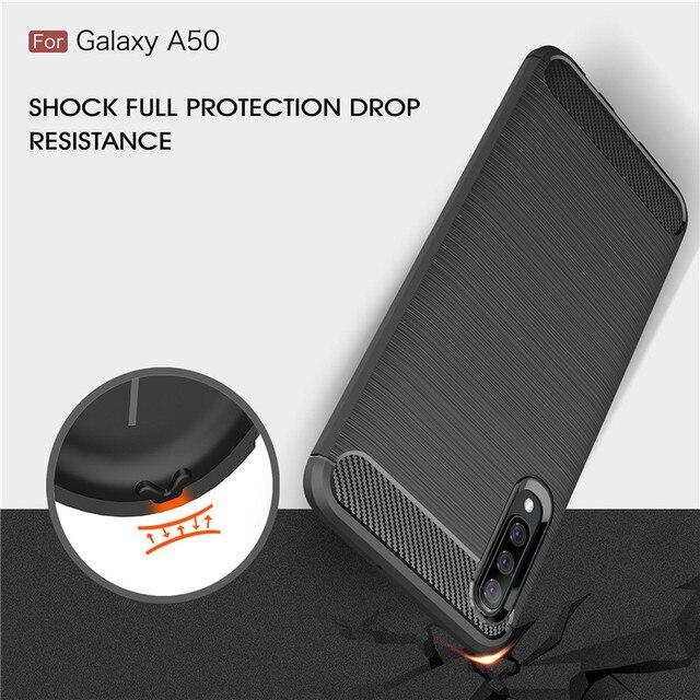 For Samsung Galaxy A10 A20 A30 A40 A50 A60 A70 A10E A20E A70E Case Carbon Fiber Cover for A10S A20S A30S A50S A70S A90S A21S 4