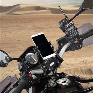 Image 5 - Super Strong Shockproof Handlebar Motorcycle Phone Holder Support Walkie Talkie Holder For GPS Bicycle Phone Holder ADV Holder