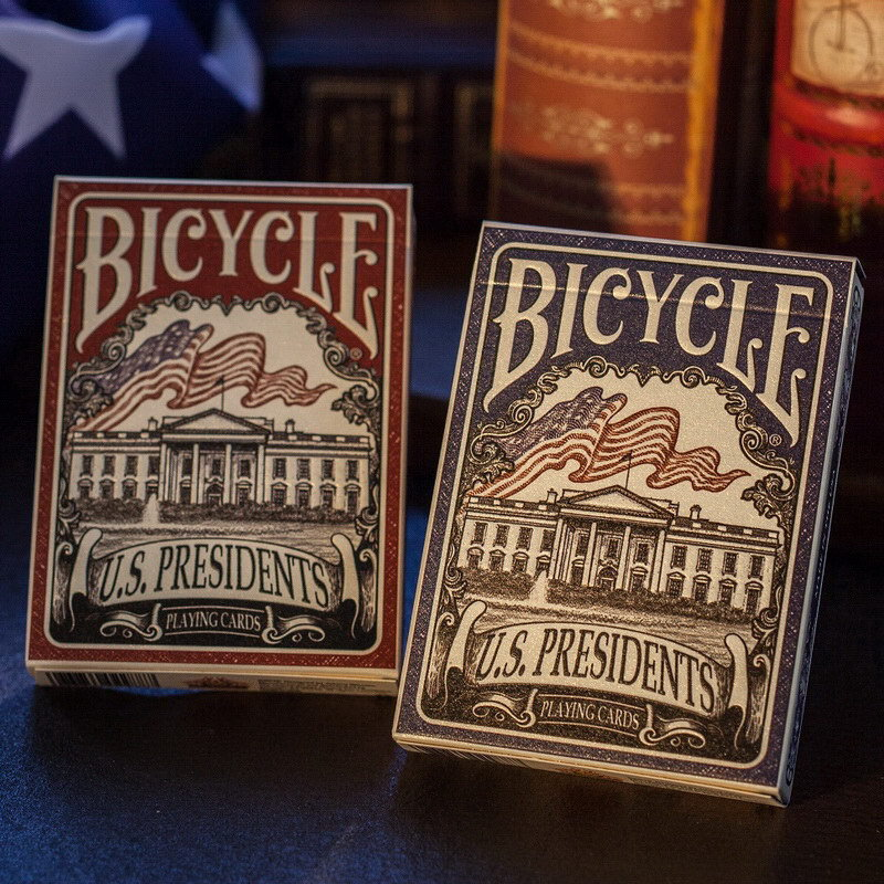 new-presidents-playing-cards-bicycle-red-blue-deck-font-b-poker-b-font-size-magia-cards-magic-tricks-props-for-professional-magician