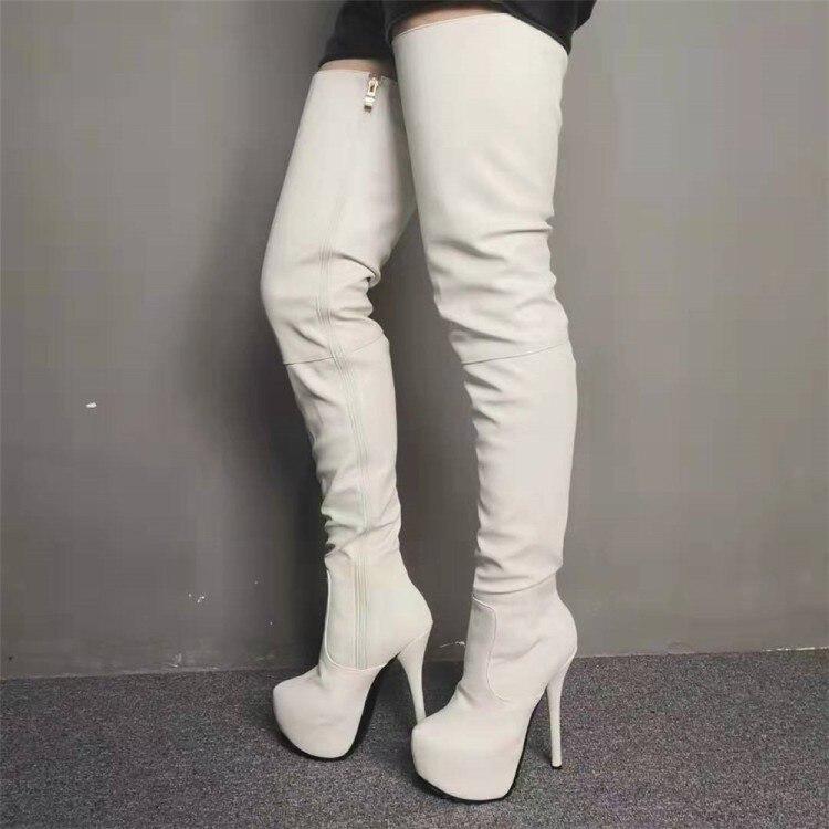 Women Platform Thigh High Boots Sexy