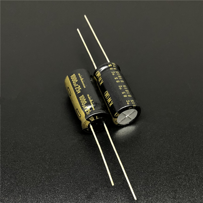 5Pcs 1000uF 25V NICHICON KW Series 10x20mm 25V1000uF HiFi Audio Capacitor