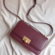 Fashion Genuine Leather Crossbody Bag Women Small Square