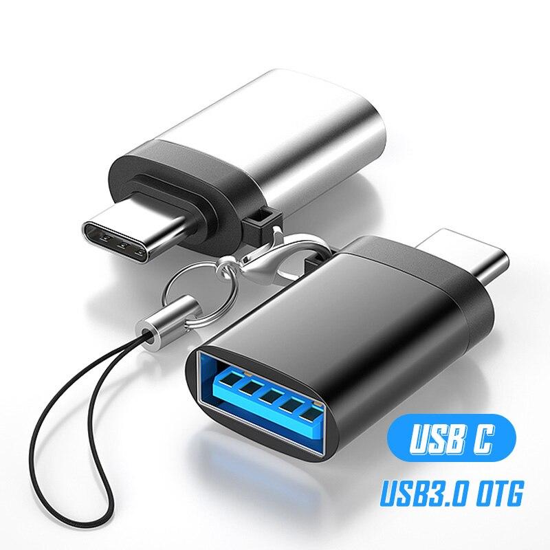 Переходник с USB Type C на USB 3,0 OTG, адаптер USB A типа C, конвертер для Huawei Xiaomi Mi 10 Pro 9 9t, адаптер USB, адаптер типа C OTG