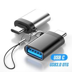 USB Type C to USB 3.0 OTG Adapter USB A Tipo C Converter for Huawei Xiaomi Mi 10 Pro 9 9t USB3.0 Adaptador Tipe C OTG Adaptateur