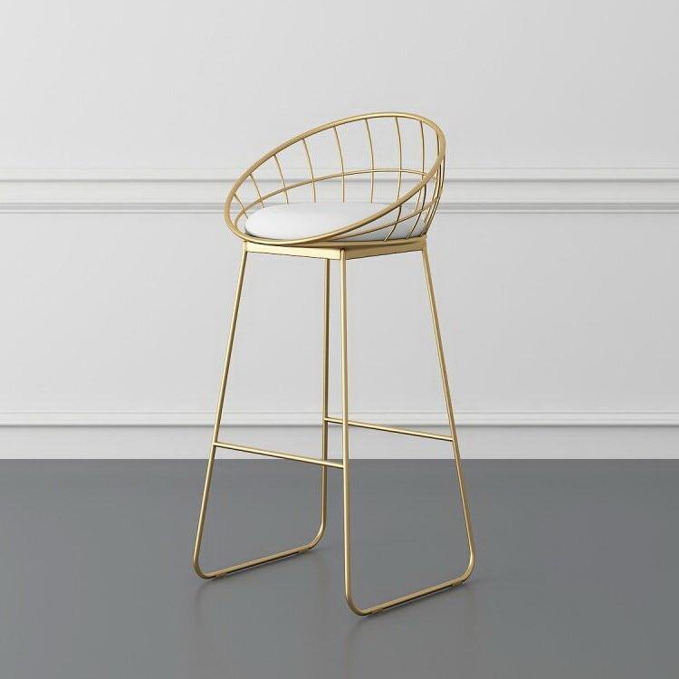 Simple Bar Stool Wrought Iron Bar Chair Golden High Chair Chair Lounge Chair Nordic Bar Chair Bar Stool