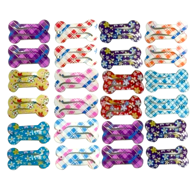 20pcs Pet Dog Hair Clips Bone Design Hairpins For Dogs Dog Pet Grooming Accessories Pet Dog DecorationSupplies For Small Dogs
