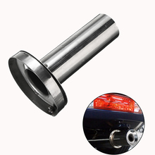 T-304 Stainless Steel Car Tip Exhaust Muffler Pipe Chrome Trim Modified Insert Removable Silencer round tip muffler