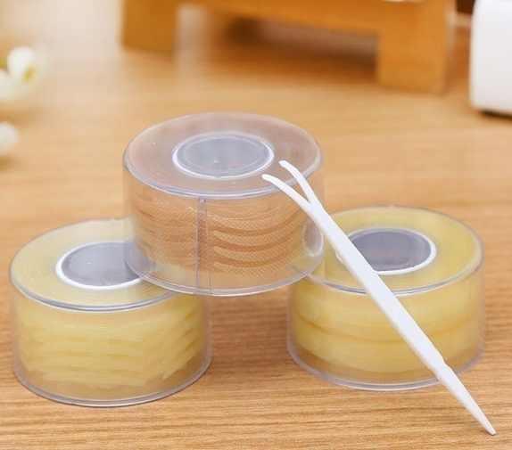 Fashion Lace Natural Mesh Tape Eye Lift Strips Double Eyelid Sticker Adhesive