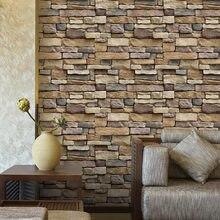 Papel de pared de PVC autoadhesivo impermeable, papel de pared 3D, fondo de ladrillo de roca, pared, comedor, sala de estar, decoración, pegatina de pared