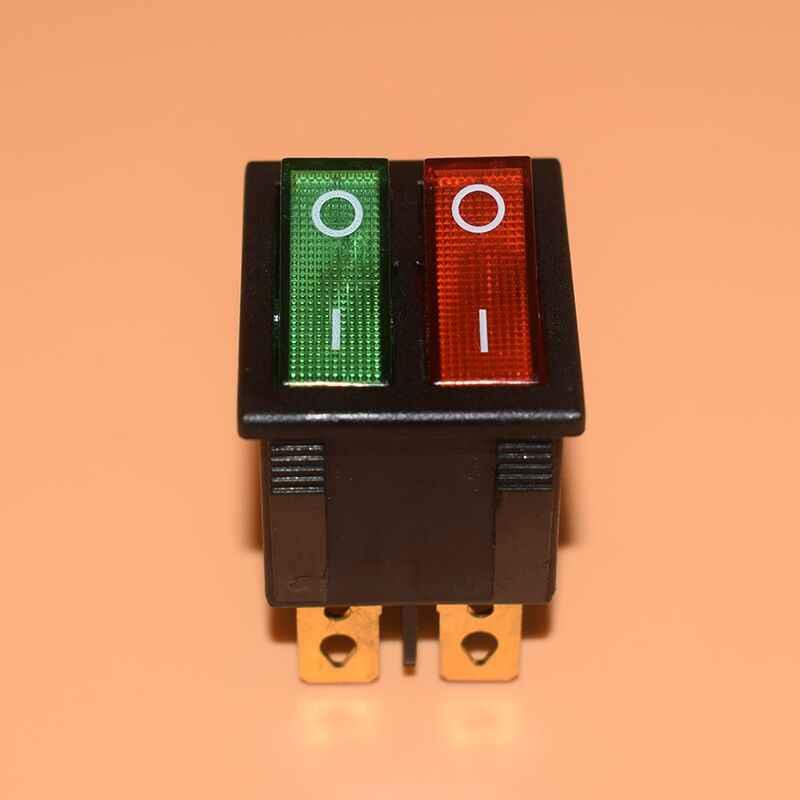 (Double Merah Sabuk Hijau, Lampu Band 2 6 6 Kaki) listrik Rice Cooker/Wajan Panas Pemanas Listrik Oil Heater Kapal Tipe Switch