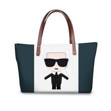ThiKin Fashion Karl Lagerfelds Printing Handbags for Women Girl Customize Image Shoulder Bag Ladies Femme Shopping