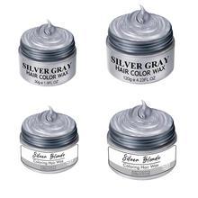 120g Disposable Hair Dye Wax Cosplay Silver Gray Hair Wax Dyeing N1J8