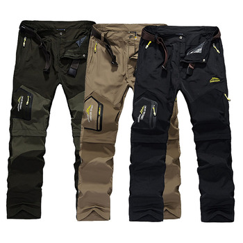 2020 Hiking Pants Outdoor Quick Dry Pants Men Summer Breathable Camping Trousers Removable Shorts Trekking Hunting Fishing Pants daiwa windproof fishing pants men fishing trousers outdoor riding hiking camping waterproof breathable quick dry fishing clothes