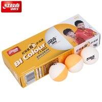 DHS двухцветные мячи для настольного тенниса, Прошитые, новый материал ABS D40 + мячи для пинг-понга, Пластиковые Мячи для пинг-понга